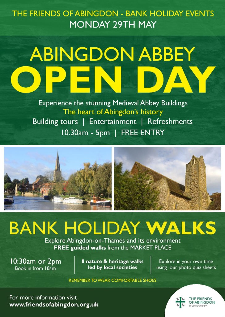 Open Day & Bank Holiday Walks, 2017
