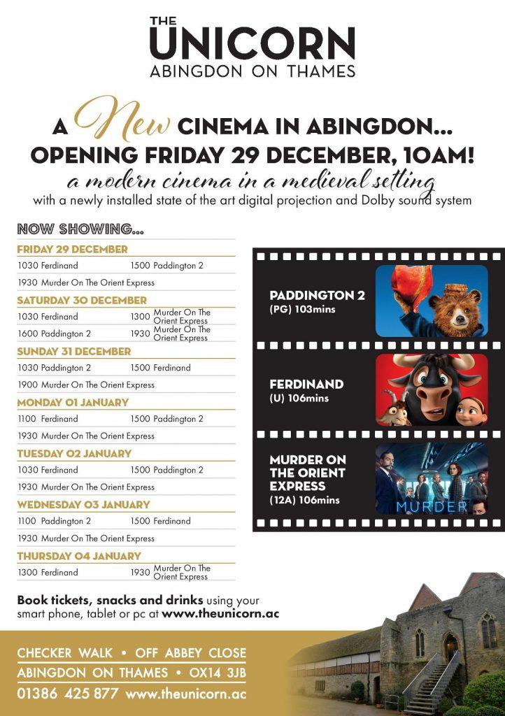 Unicorn Cinema launch, 2017