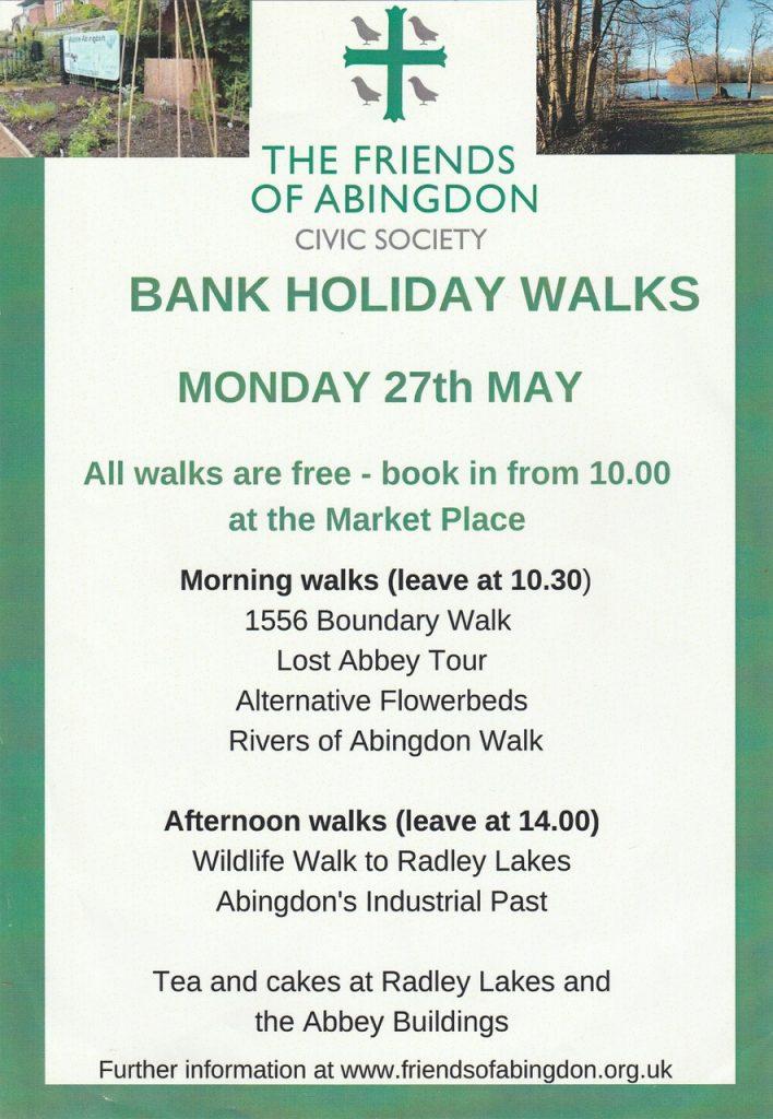 Bank Holiday Walks, 2019