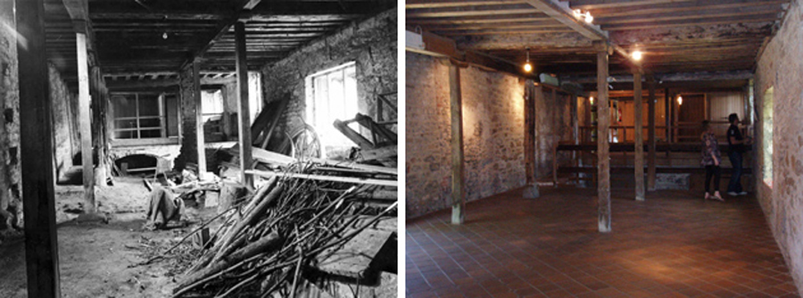 Before and after - Lower Hall