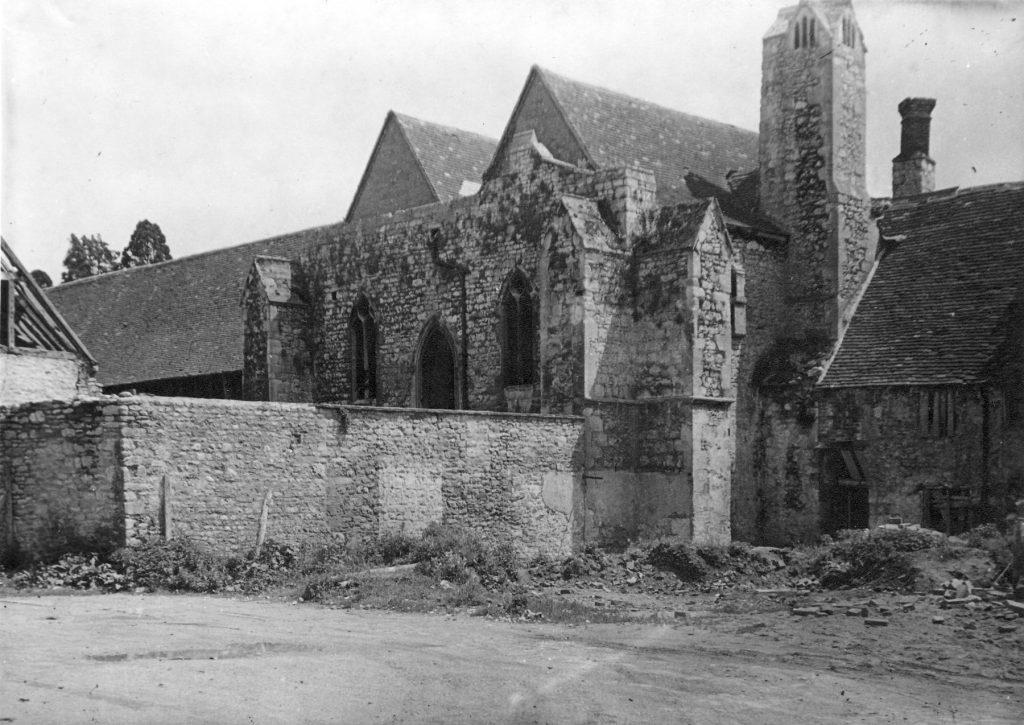 Checker ruins in May 1948