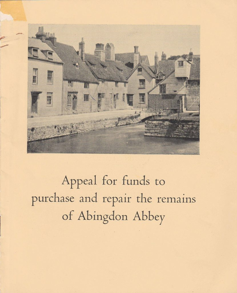 Appeal for funds to purchase and repair the remains of Abingdon Abbey