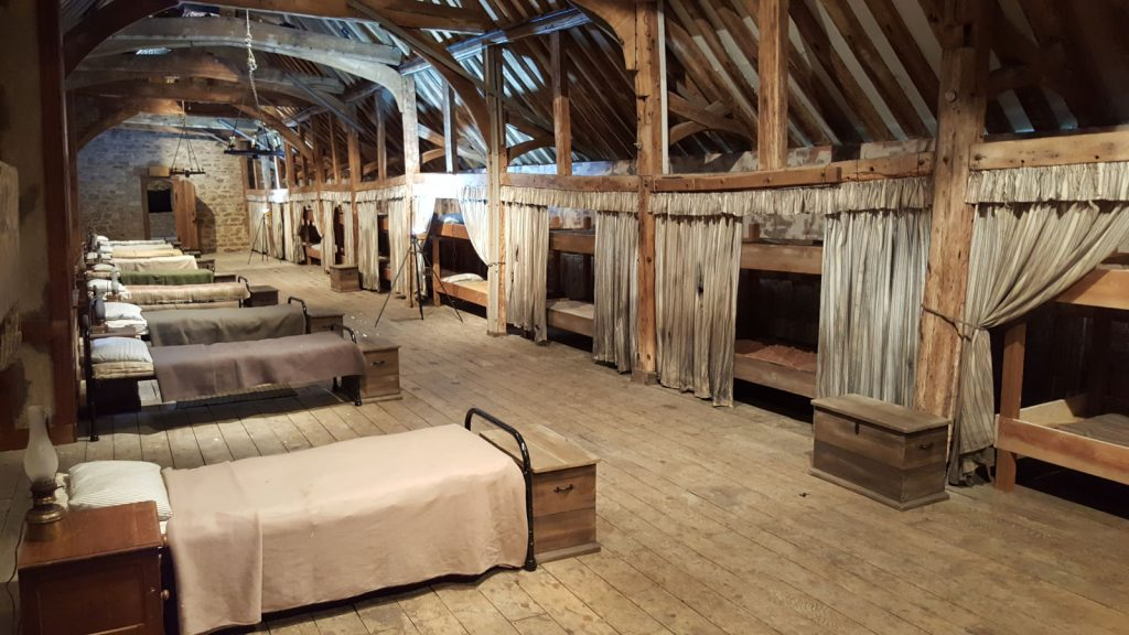 The Long Gallery as an orphanage dormitory in The Last Dragon Slayer, Sky TV, 25 December 2016